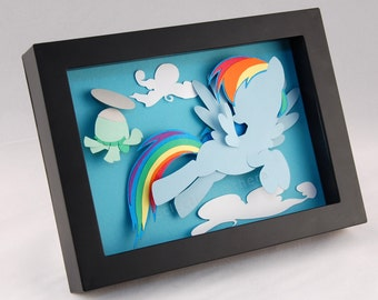 My Little Pony - Rainbow Dash and Tank the Turtle - Shadow Box