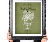 PERSONALIZED WEDDING Roots and Wings Gift for Parents, Gift for Mother of Bride, Family Tree Print, Gift for Parents, Vintage Image, 8x10