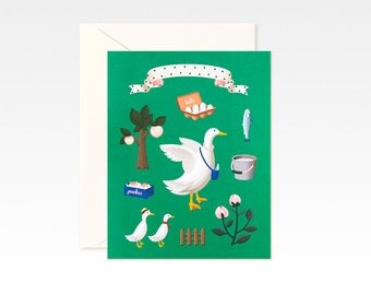 Green Geese Card