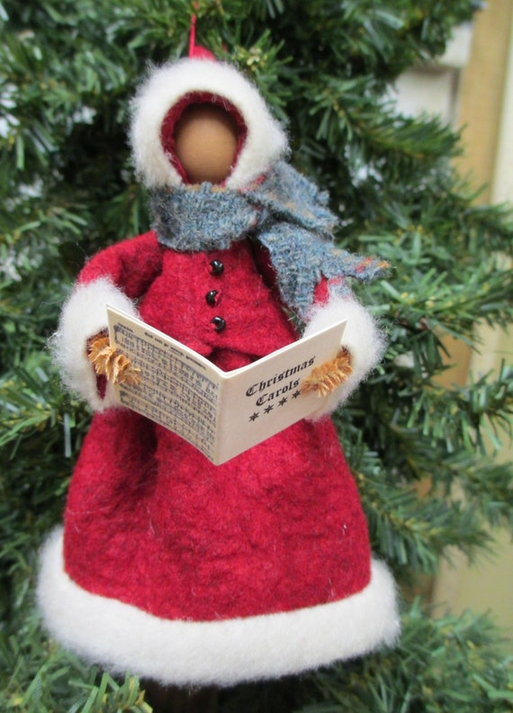 Christmas caroler ornament clothespin by moderationcorner