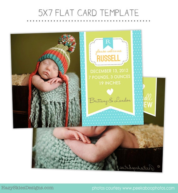 items similar to birth announcement template for photographers photo card template photography