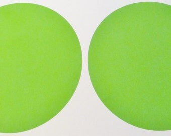 "8"" Lime Green Polka Dot Vinyl Wall Decals"
