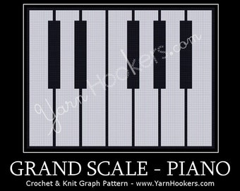 Grand Scale - Piano - Afghan Crochet Graph Pattern Chart - Instant Download