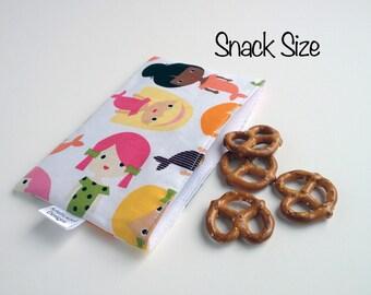 Snack & Sandwich Bag Mermaids Eco-Friendly Reusable