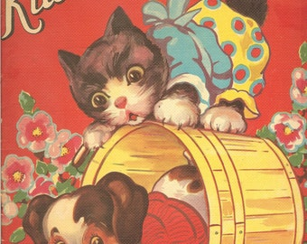 Kitties and Puppies Vintage Book