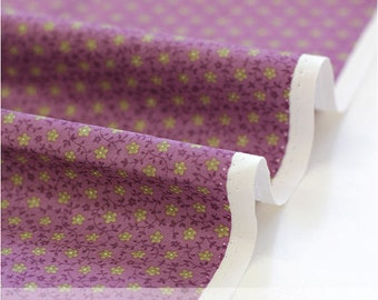 Cotton Fabric Petit Star Flower - Purple - By the Yard 38511