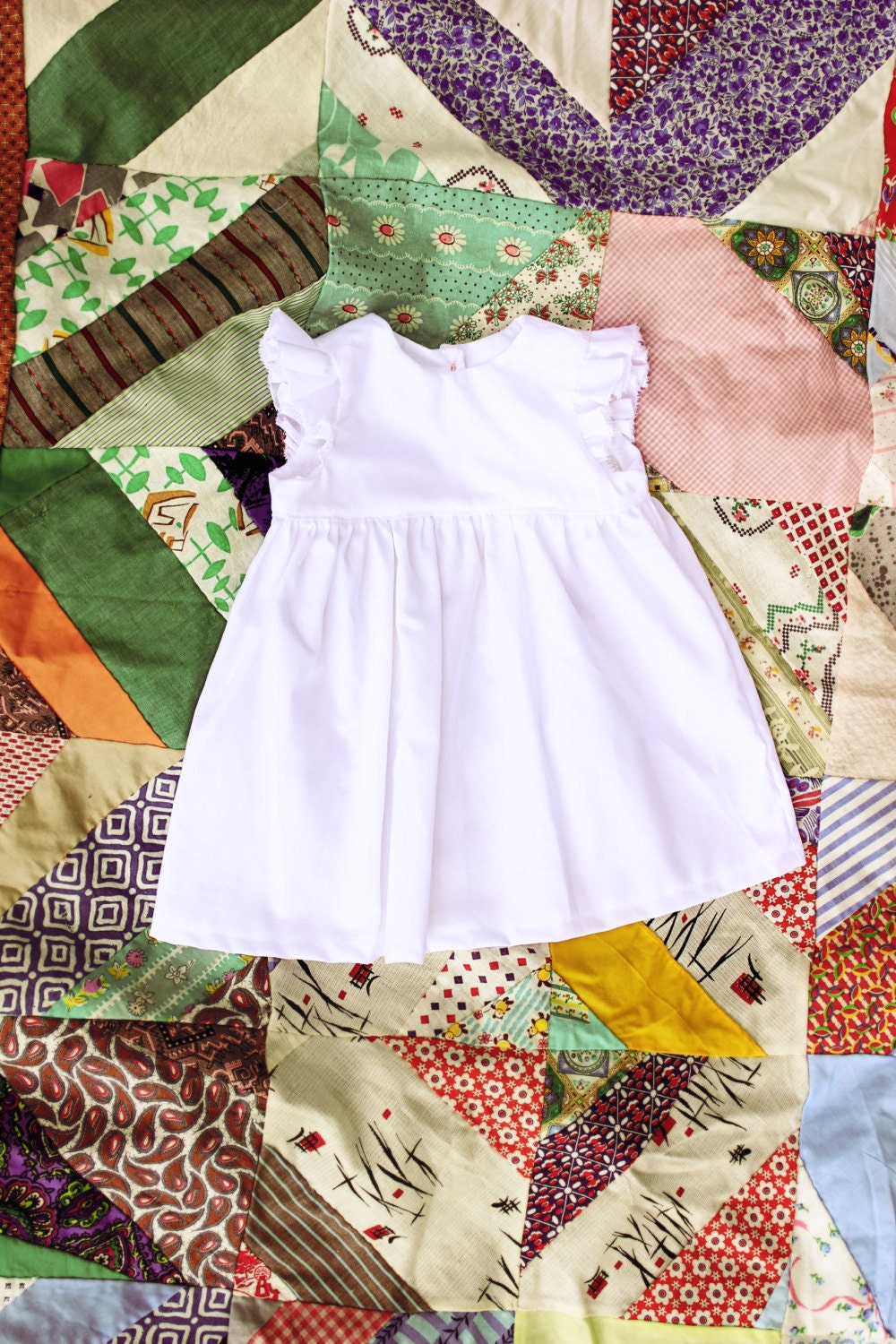 Baby Girls White Flutter Sleeve Dress Coming Home Outfit Old