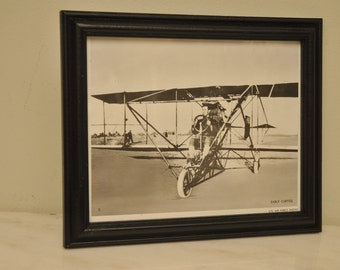 1960s Official US Air Force Print Early CURTISS Airplane Photo Print Number 3 Vintage