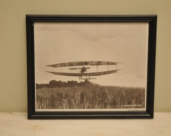 1960s Official US Air Force Print CURTISS June Bug Airplane Photo Print Number 2 Vintage