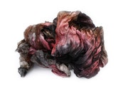 silk scarf - Rosehill Kingdom - black, brown, pink silk ruffled scarf.
