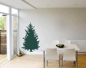 Pine Tree 1 Five Foot Tall  Removable Vinyl Wall Art, tree wall decal pine tree woodland theme christmas tree tree sticker outdoors