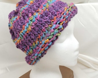 Purple and More Knit Hat