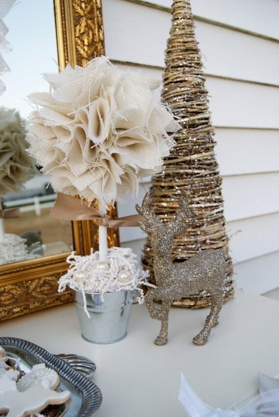 Winter Centerpieces For Christening : White centerpiece wedding first communion