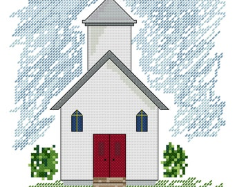 Sunday In The Country Cross Stitch Pattern - Instant Download