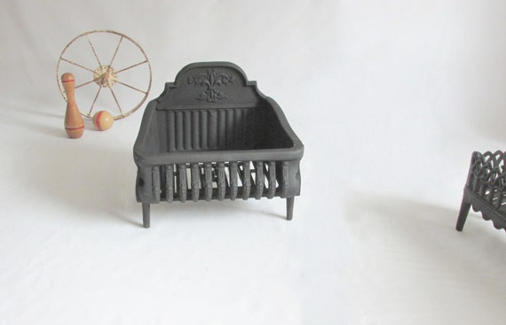 Cast Iron English Coal Basket Fireplace Grate By Owlsongvintage