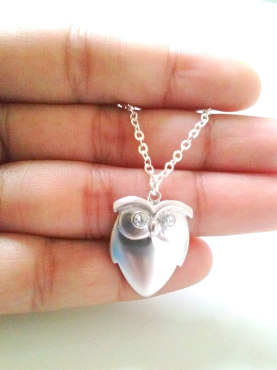 owl necklace,silver owl necklace,halloween jewelry,halloween necklace owl,christmas gift,christmas present