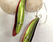 Summer Long Leaf Aluminum Earrings