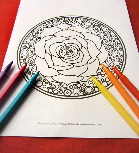 ... color - Instant download PDF - Plus Coloring Tips - Circles and Orbs