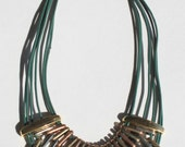 Mixed metal necklace GREEN