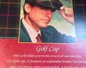 Vintage Golf Cap Classic Blackwatch Tartan Plaid Never Used Still in Box