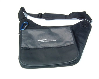 Vintage Microsoft Sling Sleek Stylish Messenger Collectors Bag 1990