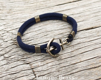 Anchor bracelet - Nautical bracelet - New Haven in Antique brass