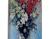 Pendant Resin, Resin Pendant Necklace-Vase of Flowers by Claude Monet 3-D