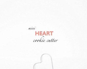 Mini Heart Cookie Cutter - Love - Valentine's Day - Parties - Weddings - Custom Cookies