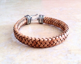 Gift for men, Mens bracelet, leather bracelet, Anniversary gifts for men, braided bracelet, Men jewelry, Boyfriend gift