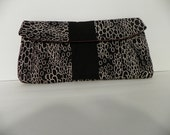 Black and White Canvas Clutch