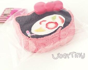 Rare Jumbo Hello Kitty Fruit Roll Cake Squishy  - Chocolate (licensed)