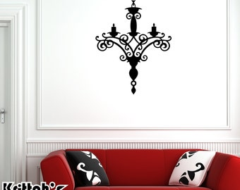 Chandelier Vinyl Wall Decal (23 x 31 inches) CH02