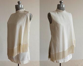 1960's White Carol Craig Gogo Dress