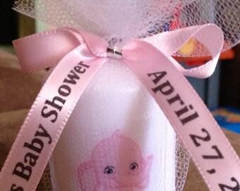 25 Baby Shower Favors, Candle Favors, Wedding Favors,Anniversary Favors, Baptism , Holy Communition Favors