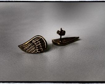 Brass 'Clipped Wings' Earrings (CLEARANCE)