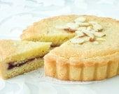 Traditional Italian Almond Raspberry Tart  Dinner party Dessert