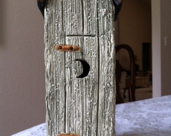 Handmade Sculptured Outhouse