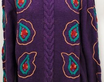 "80's Vintage ""CLUSTERS"" Sweater Sz: Medium (Women's Exclusive)"
