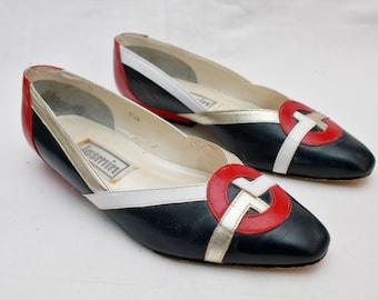 "80's Vintage ""JASMIN"" Fancy Leather Heels Sz: 6.5"