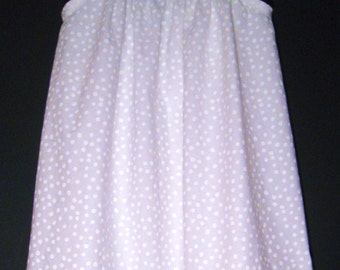 White Girls Dress,Toddler  Dress in Blue and white, Girls clothing, White polka-dot Toddler Dress.children clothing. vestido azul y blanco.
