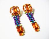 U L I S S A Orange Earrings