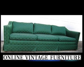 1940s vintage sofa couch davenport long mid century midcentury mid-century modern retro Hollywood regency art deco living room