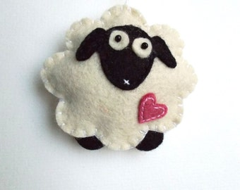 Popular items for sheep ornament on etsy for Sheep christmas ornament craft