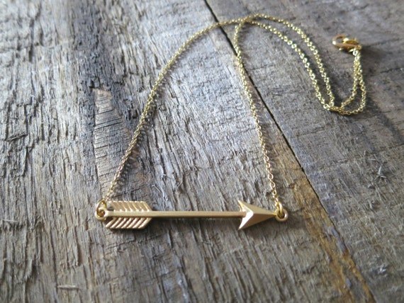 Cupid's Arrow Necklace with Gold Filled Chain