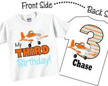 3rd Birthday Shirts for Boys with Cute Plane Tees