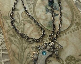 Zircon Blue Steampunk Necklace