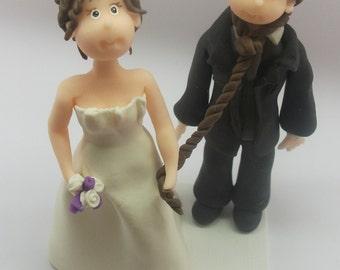 Handmade Cake Topper Hanged groom  made by Cristina Sierras