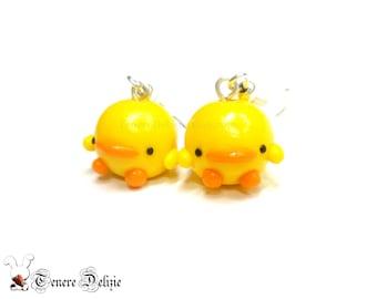 Kawaii chick earrings – kawaii earrings polymer clay chicks