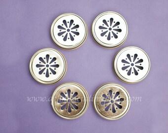 Sale!! Set of 100 Gold Color Daisy Mason Jar Lids DIY Wedding, Party Decor
