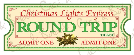 Christmas Lights Express Tickets By Cici and Bobo by CiciandBobos